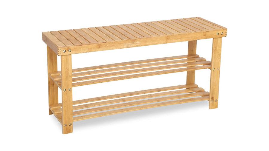 banco zapatero de madera