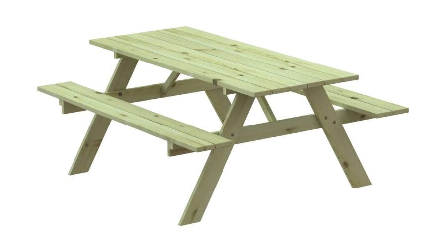 banco de picnic de madera
