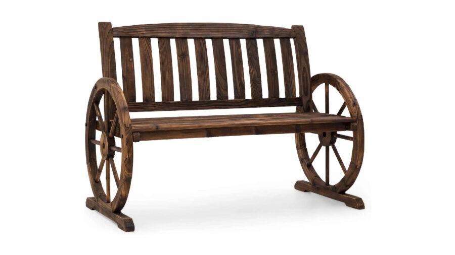 bancos de madera antiguos