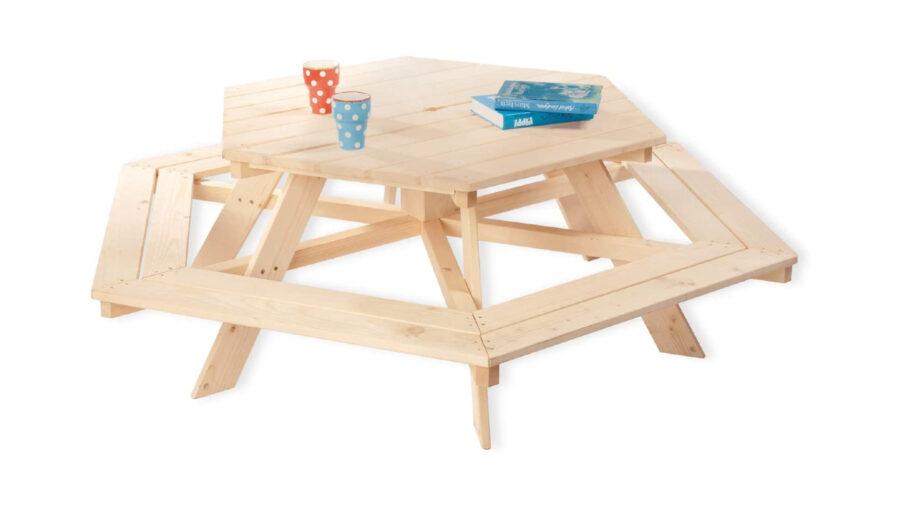 banco de picnic para niños