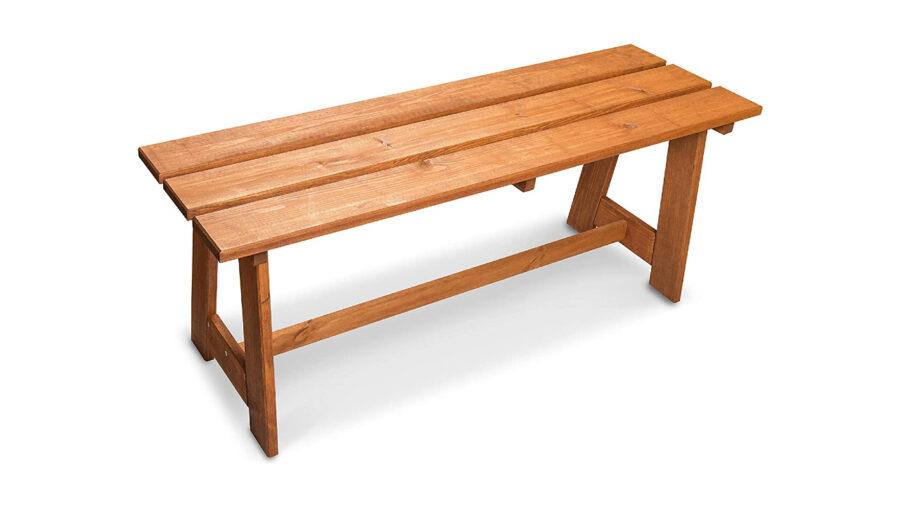 bancos de madera sin respaldo