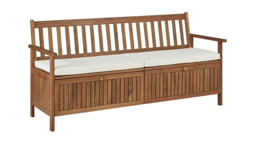 banco baúl de madera