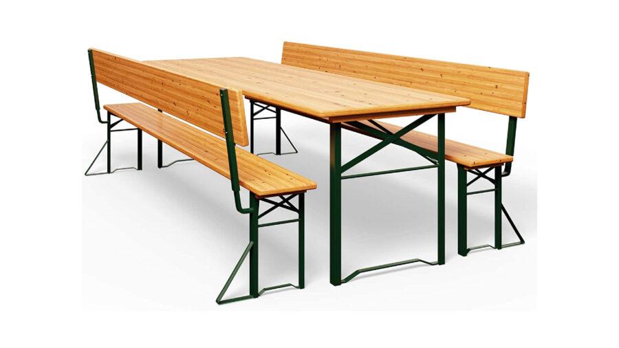 bancos y mesa de picnic para terraza