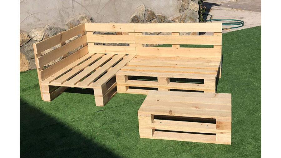 banco de palets de madera